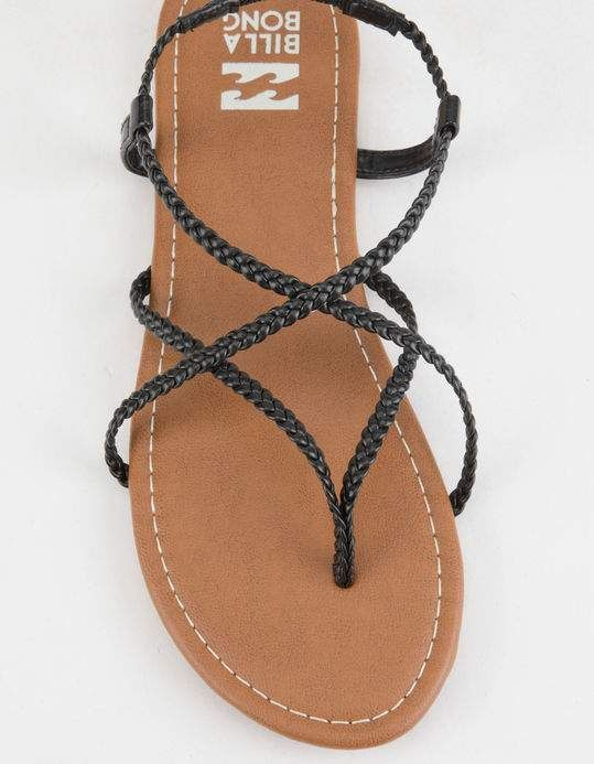 e90fe72d14cd BILLABONG Crossing Over 2 Black Womens Sandals