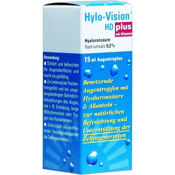 HYLO-VISION HD Plus Augentropfen:   Packungsinhalt: 15 ml Augentropfen PZN: 00660469 Hersteller: OmniVision GmbH Preis: 6,02 EUR inkl. 19…