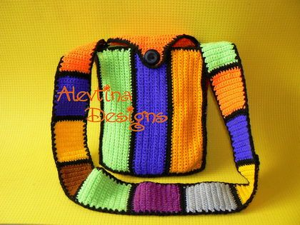 #colorful_crochet_tote #my_crochet_bag #AlevtinaDesigns