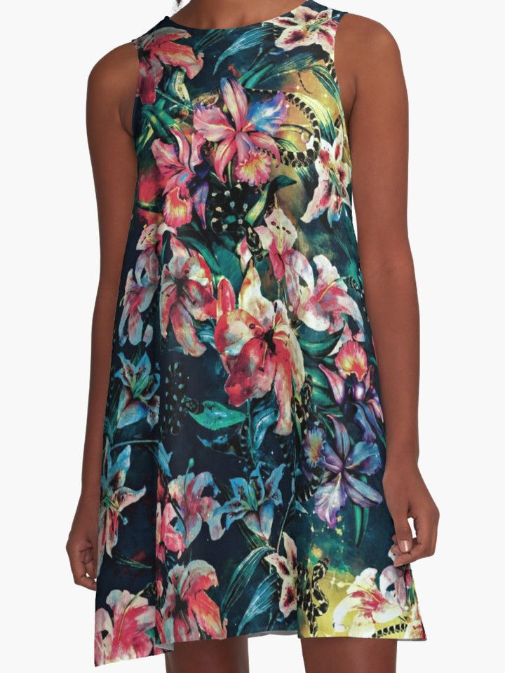The night of the Snakes by RIZA PEKER #women #fashion #summer #dress #floral