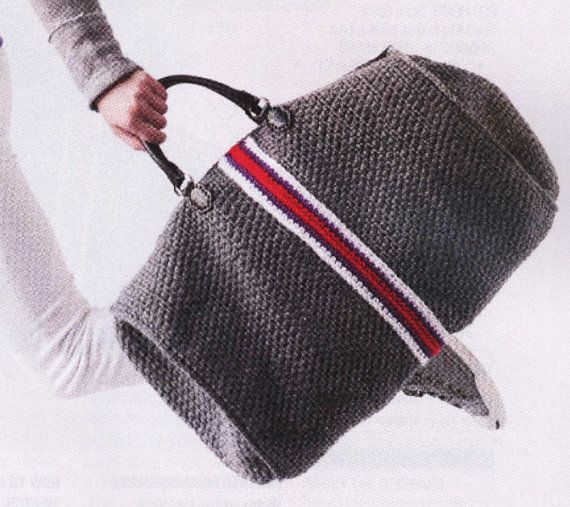 Duffel crochet Bag Crochet pattern with by patterns2014 on Etsy
