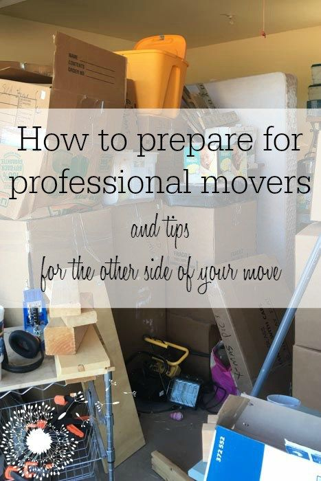 How to prepare for professional movers, plus tips for making life easier on the other side of your move {www.lovelyweeds.com}