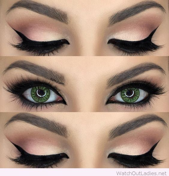 Natural eye makeup for hazel eyes