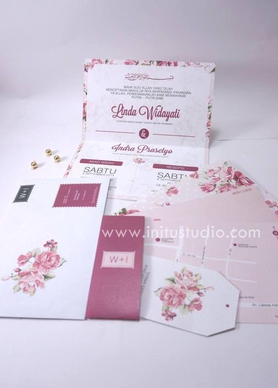 Sophistic Soft Cover Invitation with Envelope  http://initustudio.com/undangan-pernikahan-unik-kreatif/