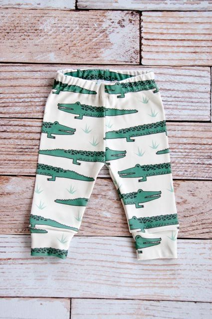 How can you turn down this these happy alligators? There is nothing better than soft comfortable clothing for your little one. All of the fabric in my