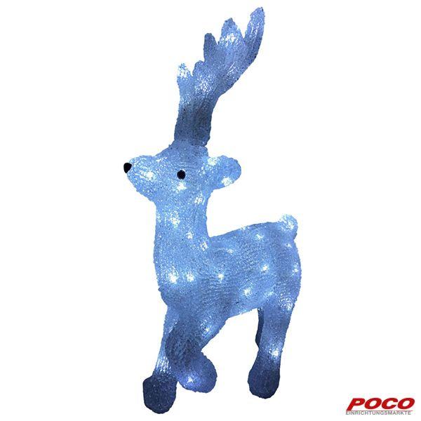 Ein Rentier darf zu Weihnachten nicht fehlen. Mit 48 LED-Lichtern, ca. 34 x 14 x 55 cm, für den Innen- und Außenbereich #weihnachten