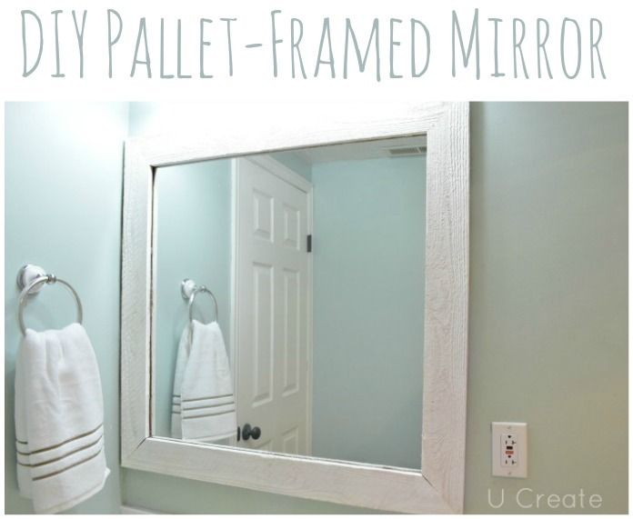 25 Best Ideas About Pallet Mirror Frame On Pinterest Pallet Mirror Bathroom Mirrors And