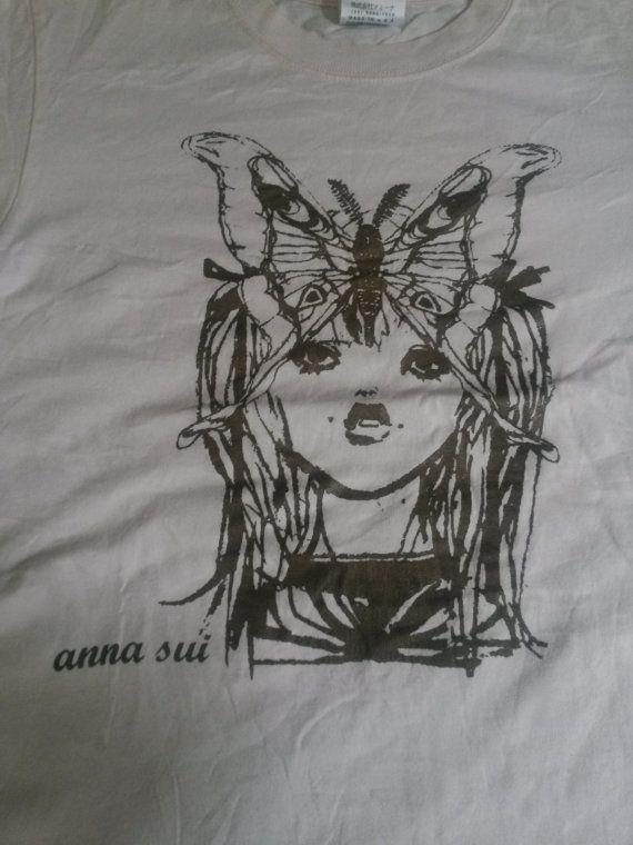 Vintage Anna Sui Tshirt Rare Design 90s 80s by cliffbundlehouse