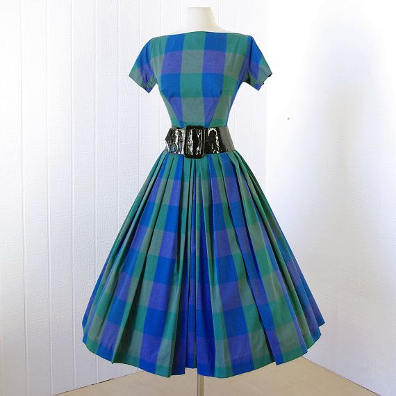 vintage 1950's dress ...dior's new look classic GIGI by traven7
