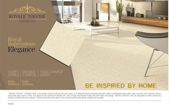 Now Royale Touche- Silk Touch Vitrified Tiles Get Various All Sizes Double Charge & Nano Ivory Information More Details Click Here » https://goo.gl/xQCFVw  #RoyaleTouche #Ceramicdirectory #SilkTouchVitrifiedTiles #VitrifiedTiles #DoubleCharge #NanoIvory