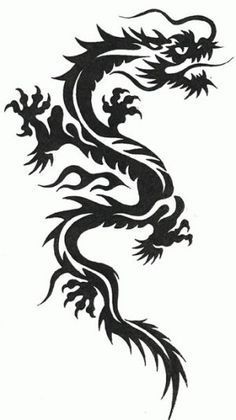 23 best japanese dragon tribal tattoo images on pinterest dragon tattoo designs tribal. Black Bedroom Furniture Sets. Home Design Ideas