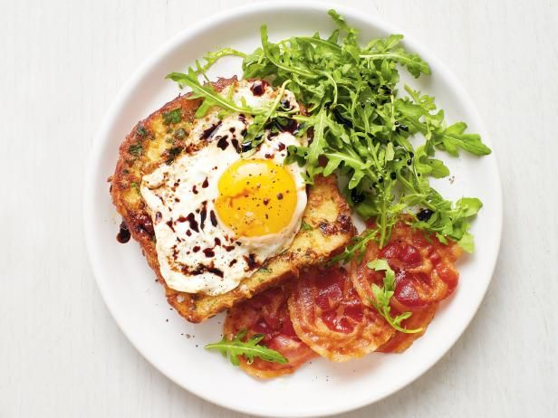 Parmesan French Toast With Pancetta And Eggs Recipe Food