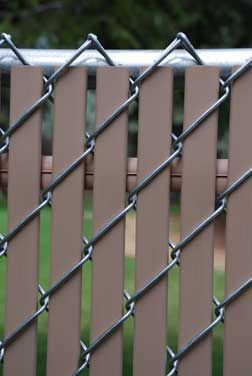 Option Lock Privacy Slats for chain link fence.