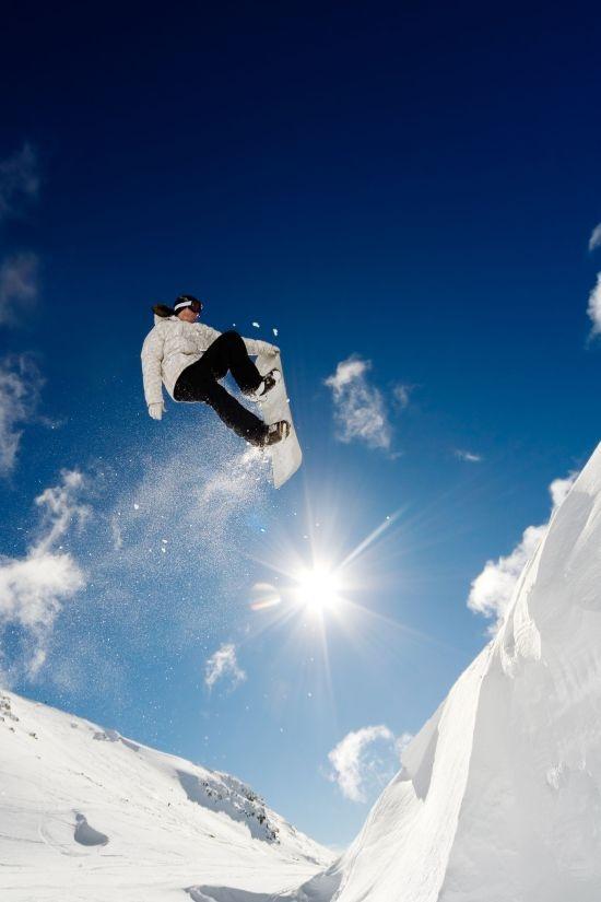 Heerlijk snowboarden in de Snowy Mountains in New South Wales.