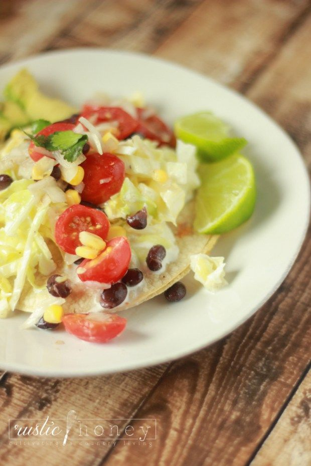 Fresh mex tostada quesadilla - easy weeknight meal with slaw and pico! Delicious!