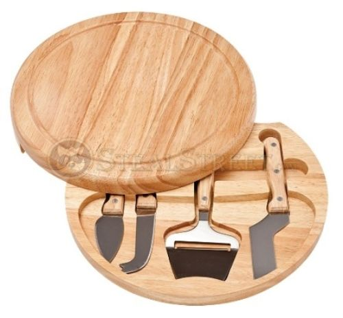 Swivel Cheese Mate Set with 4 stainless steel cheese tools that you can store inside / Steal Street