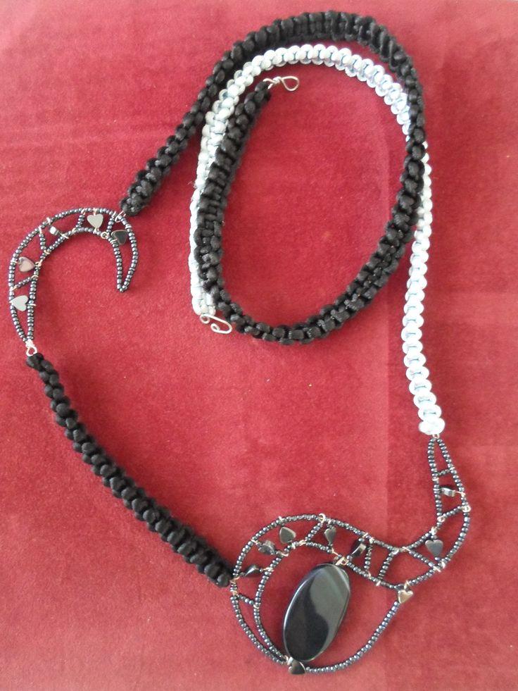 Handmade Ebony Macrame Necklace