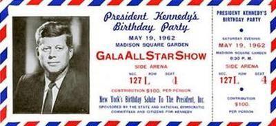 JFK Birthday gala invitation - May 19, 1962
