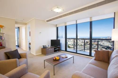 Featuring a private balcony with floor-to-ceiling windows, the #Melbourne Short Stay Apartments are the perfect place to stay with the whole family!  A #hotel with beauty and comfort all in one! #Australia