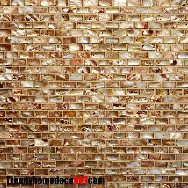 Sample- Copper Shell Mosaic Tile Kitchen Backsplash Bath Wall Sink Spa | eBay