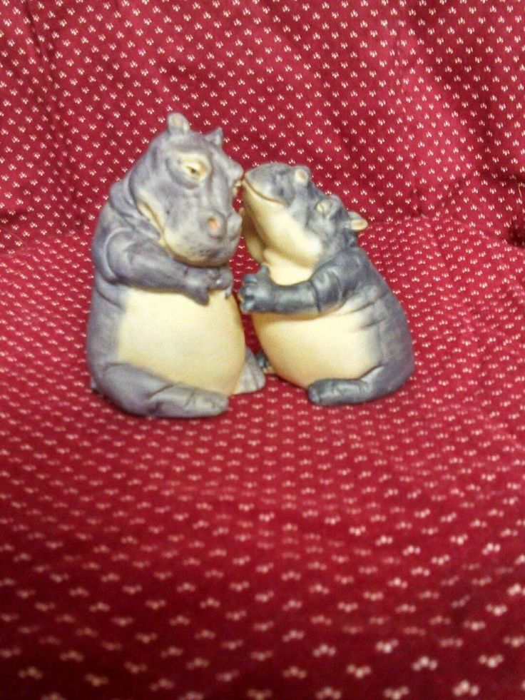 Pair of Hippos. From Franklin Mints Noah's Ark. 1987 ©FM. WE LOVE WHAT WE DO! WE LOVE TO PASS ON THE EXCITEMENT OF GETTING THAT PERFECT COLLECTIBLE! - I WILL WORK WITH YOU ON ANY PROBLEM within Reason. | eBay!