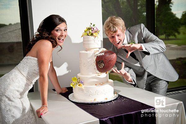 Football Wedding Theme Ideas - Unique Sports Wedding Ideas   Wedding Planning, Ideas & Etiquette   Bridal Guide Magazine Keywords: #weddings #jevelweddingplanning Follow Us: www.jevelweddingplanning.com  www.facebook.com/jevelweddingplanning/