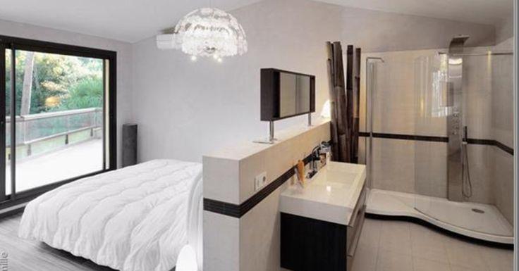 une suite parentale tout en un avec salle d 39 eau ouverte sur la chambre le la lumi re. Black Bedroom Furniture Sets. Home Design Ideas