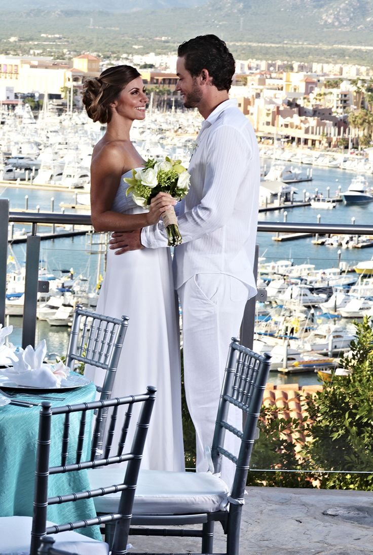 Destination Wedding Rooftop Venues in Los Cabos Mexico - Sandos ! Great All Inclusive Resort with even better wedding packages. Lovely marina ocean views as well