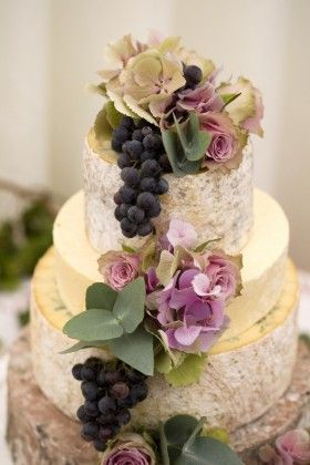 Stacked cheese to look like a wedding cake and other creative cake alternatives. Wedding ideas