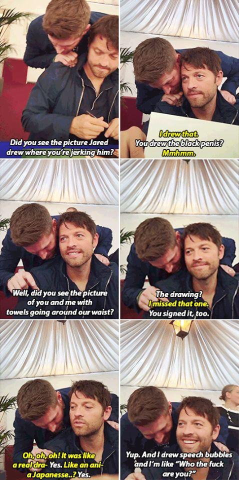 I love the look on Misha's face