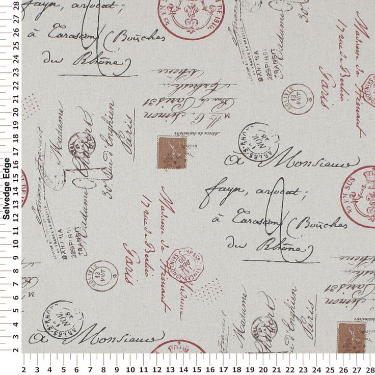 Browse Postage Stamps On Tan Burlap Fabric And More Of Our Mediumweight Multi Purpose