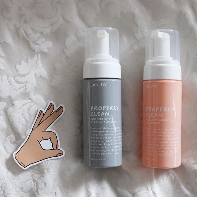 Couples that cleanse together, stay together! I'm a massive fan of @gotoskincare's Properly Clean (have been using it for years now and still 💕 it), while my hubby uses their Bro-To cleanser (and official Shower Beer Holder 😂) #littlelistofmine