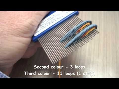 How to make cascading loops flower using a quilling comb - YouTube