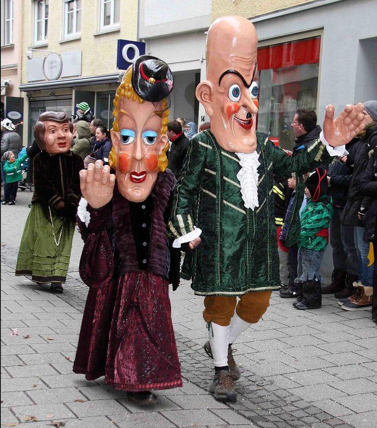Narrensprung in Ulm 2014 Ein seltsames Paar
