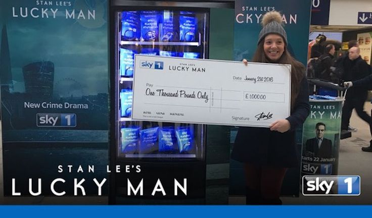 "Lucky Man: #TryYourLuck vending machines by Sky On January 22nd, 2016, Sky 1 premiered its new 10-part series ""Lucky Man"", a superhero crime drama by legendary comic book writer Stan Lee that follows the life of a detective who can control luck."
