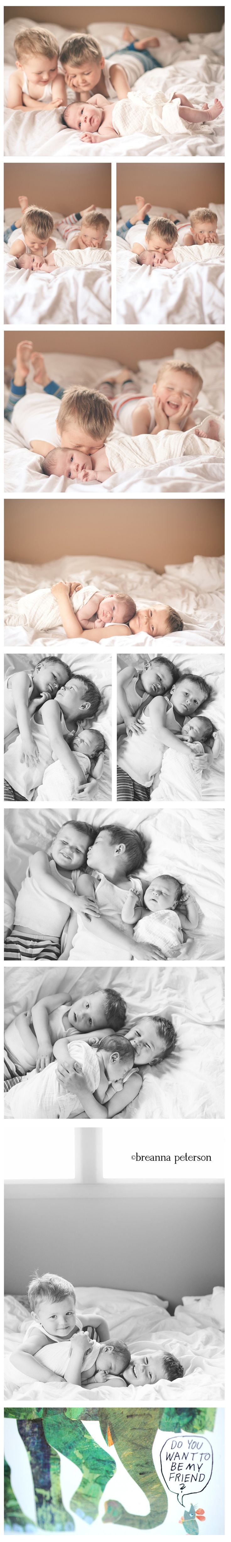 lifestyle newborn shoot with siblings