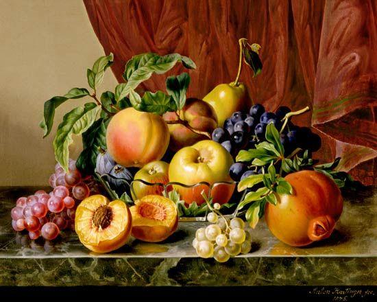 Anton Hartinger (Austrian, 1806-1890): Fruit Still LIfe