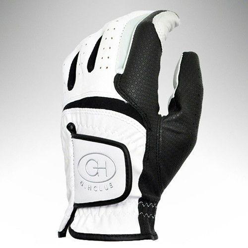 1pcs Left Hand Golf Glove Men White & Black Soft Size 22-23-24-25 #Unbranded