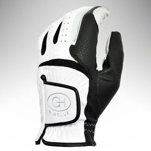 1pcs Left Hand Golf Glove Men White & Black Soft Size 22-23-24-25 #Unbranded