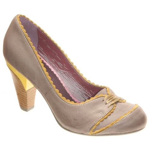 The Thai It Up Heel - $98.00Orient Express, Woman Shoes, Pump, Poetic Licence, Style Pinboard, Yellow, Grey Heels, Oriental Express, Grey Leather