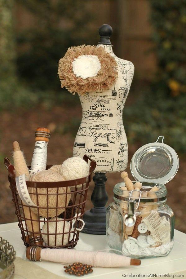 Shabby chic vintage inspired bridal shower
