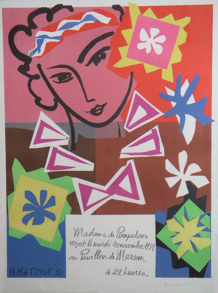 """Madame de Pompadour. 1951. Matisse:""""Genius is just childhood one can return to at will""""."""