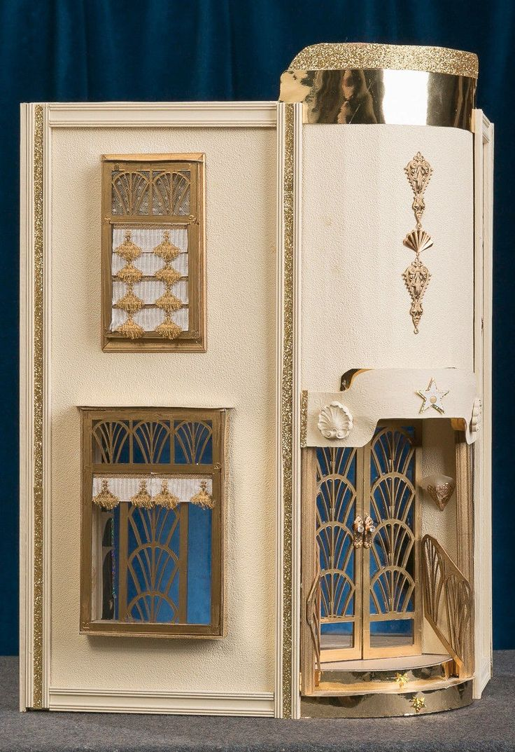 Art Deco HOLLYWOOD Dollhouse With BESPAQ Furniture And Mannequins 1:12 Scale