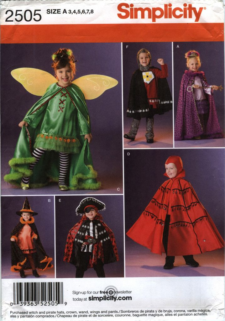 96 best Costume Sewing Patterns images on Pinterest | Costume ...