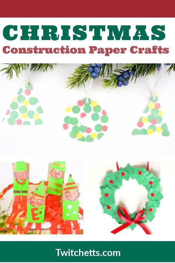 Merry Christmas 2020 Construction 24 Easy Construction Paper Christmas Crafts   Twitchetts in 2020