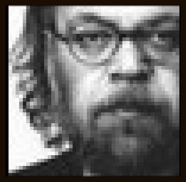 """Forfatterfasetter"" (A Twitter profile pixture.)"