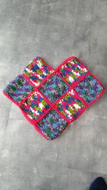 #Crochet #poncho #grannysquare