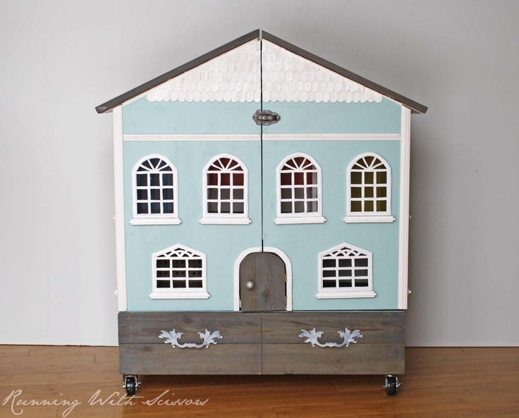 Running With Scissors: Doll House - Best little handmade doll house - clever and cute