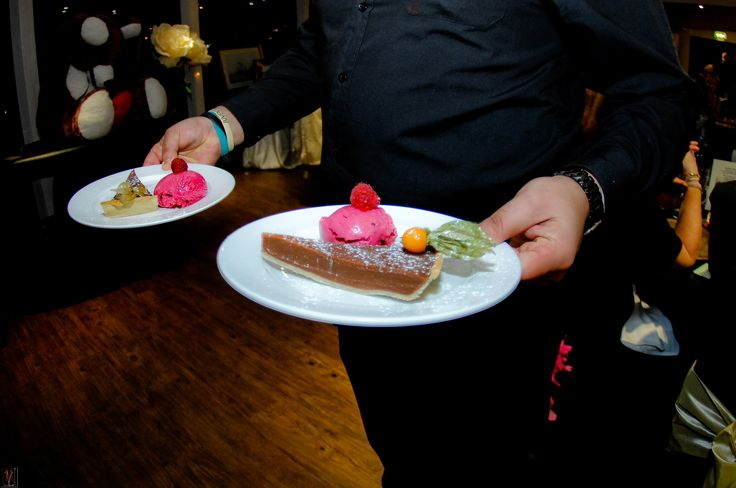 Sea salt and chilli chocolate torte served with a refreshing raspberry sorbet. Such a delicious desert to go for on your wedding day all homemade and fresh on the day here at Ocean Kave Coastal wedding venue North Devon