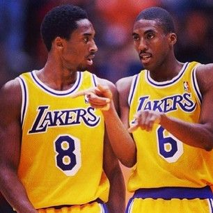 Throwback Photo .........Eddie Jones & a Young Kobe Bryant